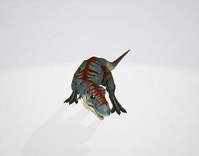 3D asset T Rex Dinosaur PBR -Low-Poly Rigged Model