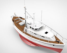 3D Fishing Ship