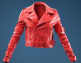 3D Pink PVC Jacket Closed
