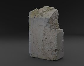 3D Scanned Broken Red Ceramic Brick RAW SCAN