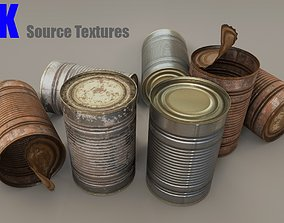 Tin Can - Game Ready - VR AR 3D asset