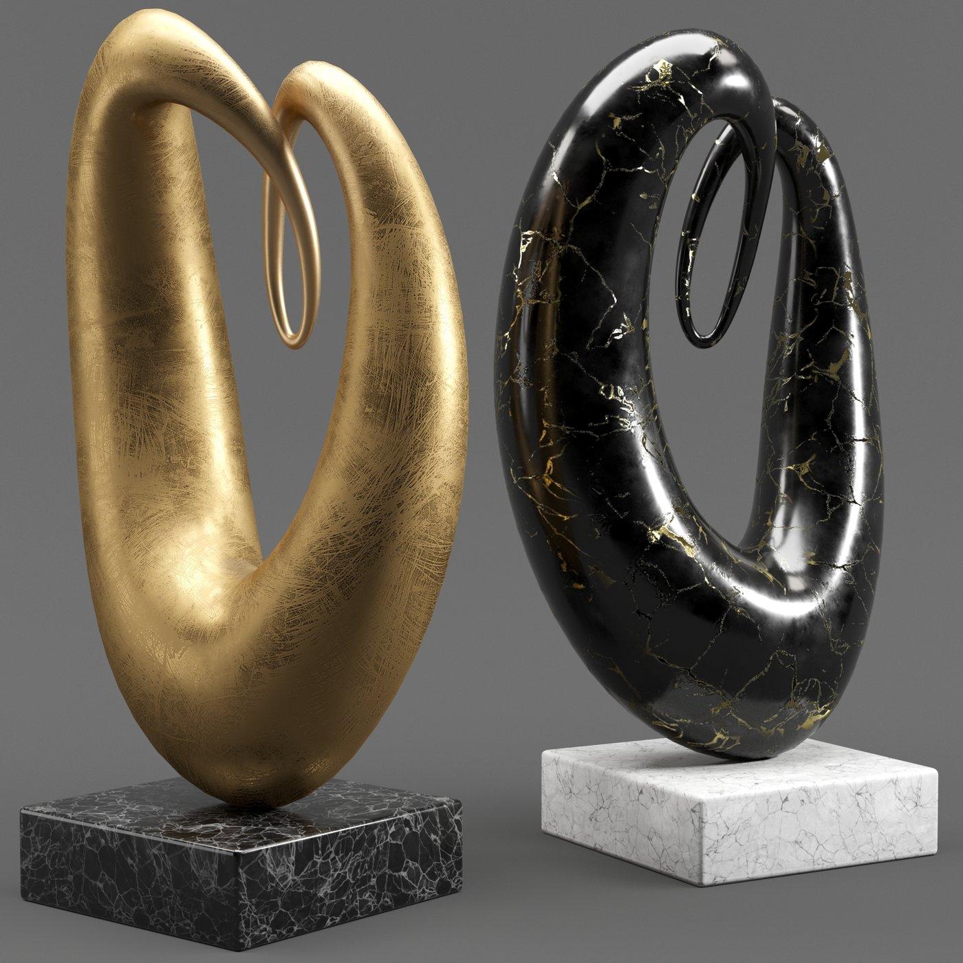 Abstract Sculptures Set