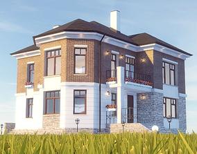 Cottage 3D model animated