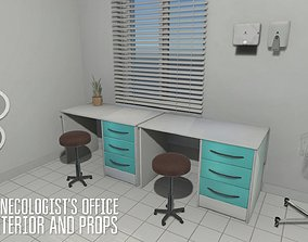 Gynecologist office - interior and props 3D model