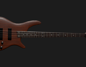 Electric bass 3D model