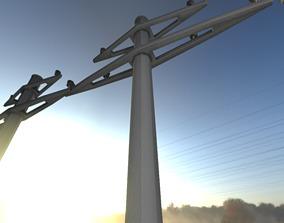 Concrete Electricity Pole without Ladder - Object 3D asset