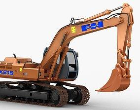 3D Fiat Hitachi Fh 200 Digger