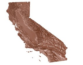 California Relief Map usa 3D print model