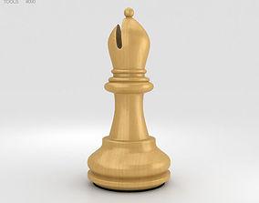 Classic Chess Bishop White 3D