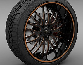 3D Savini Forged SV-25S Wheel and Tire