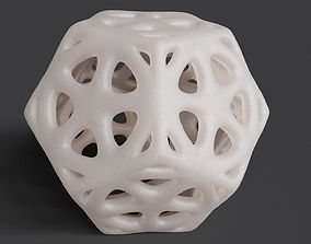 3D print model Dodecahedron Tessellated Frame