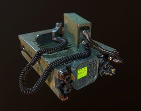 Military Radio Game Ready 3D model