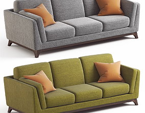 ARTICLE Ceni Sofa Pyrite Gray and Seagrass Green 3D 1