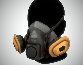 N9 Gas Mask Low Poly Game Ready 3D model