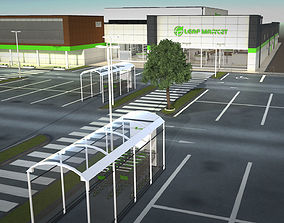 Complet Supermarket with LOD 3D asset