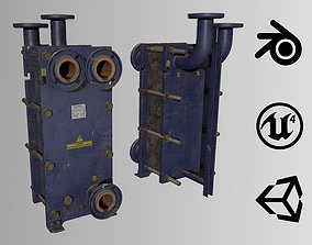 Old russian medium Heat Exchanger 3D model
