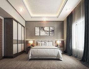 3D Hotel Room Interior Modern Design
