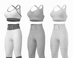 Woman Sportswear 04 Base Mesh Design Kit 3D model