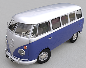 VOLKSWAGEN TRANSPORTER DELUXE 13 WINDOWS 1967 3D