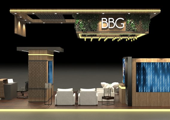 Exhibition Stand 10x6m 3D model