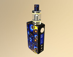 animated game-ready 3d model Vape TSV Boxmod E-cigarette