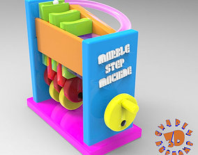 Marble Step Machine Automata Toy 3D printable model