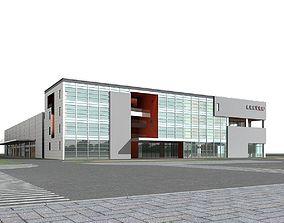Office Building 3D model apartment-building building