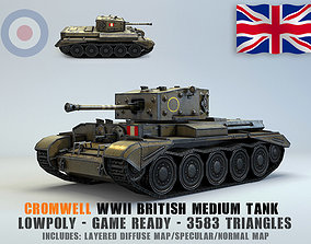 3D model Low Poly Cromwell medium tank