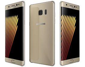 3D Samsung Galaxy Note 7 gold