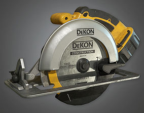3D asset Circular Saw TLS - PBR Game Ready