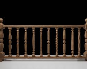 railing 3D woodcolumn