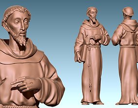 3D print model Saint Francis of Assis - Catholic Art - CNC