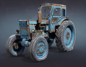 T-40 Tractor Low-Poly 3D model