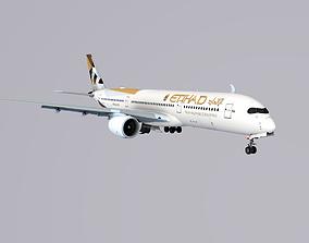 A350-900 Ethad 3D asset