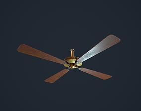 3D model low-poly Ceiling Fan antique