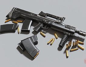 3D asset Russian large-caliber special assault rifle 3