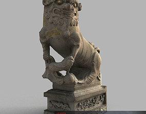 3D asset Lion-statue-015F