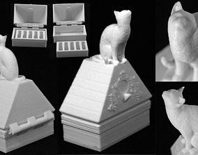 Cat on a Ring Box 3D print model