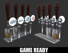 3D model realtime Beer Tap Glass Alcohol Liquor