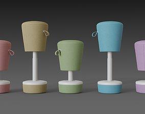 3D model realtime Bar stool MICKEY - height adjustable