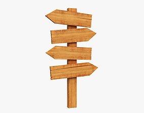 3D Signboards wooden 02
