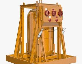 3D model Yellow Metal Industrial Element