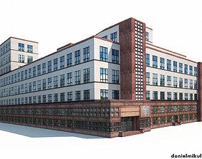Office Building 3D asset low-poly