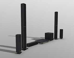 Surround Sound System Bar 3D model