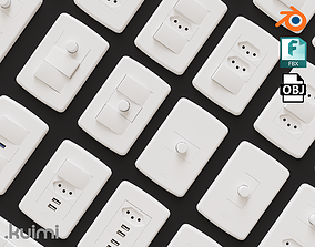 Outlets And Switches Pack 3D asset
