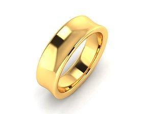 Women Band Ring 3dm render detail gem ring