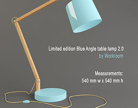 3D Limited edition Blue Angle table lamp