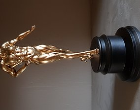 Female Bodybuilder Trophy 3D model