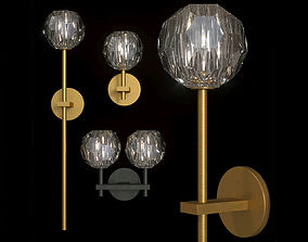 Restoration Hardware BOULE DE CRISTAL SCONCE SET 3D model