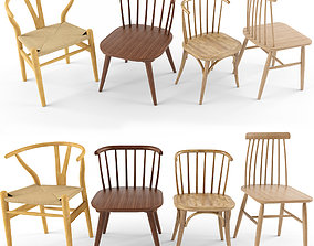 3D model 4 wooden chair dg home
